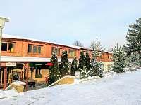 zimni pohled na dum - apartmán k pronájmu Lipno nad Vltavou