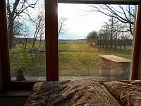 Pohled z ložnice - pronájem apartmánu Nová Bystřice - Hůrky