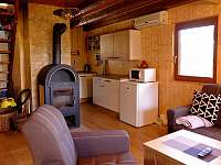 Společenská místnost - chata ubytování Tabor - Čelkovice