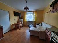 Kuchyň + obývák - chalupa ubytování Veselí nad Lužnicí