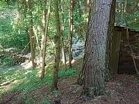 Kadibudka se splachovacím záchodem, cca 3m za chatou - Chřešťovice