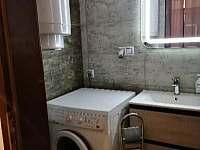 Pračka v koupelně - apartmán k pronájmu Dráchov