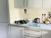 Kuchyňská linka s myčkou a kávovary - chata ubytování Dehtáře
