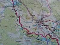 mapa okolí - apartmán k pronájmu Chvalšiny