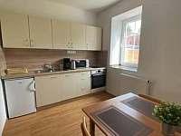 Vybavená kuchyň - apartmán k pronájmu Hůrka