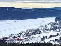 Bruslařská dráha na zamrzlém jezeře - apartmán k pronajmutí Lipno nad Vltavou