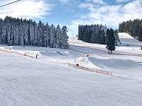 Skiareál Lipno nabízí vyžití pro snowboardisty i skicrossaře - apartmán k pronájmu