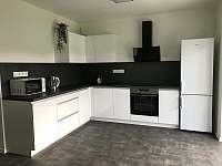 Apartmán CH0 - přízemí - Obývací pokoj s kuchyňským koutem a jídelnou - k pronájmu Dubenec
