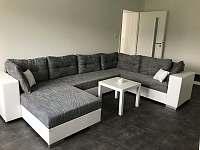 Apartmán CH0 - přízemí - Obývací pokoj s kuchyňským koutem a jídelnou - ubytování Dubenec
