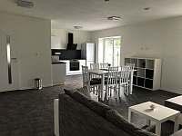 Apartmán CH0 - přízemí - Obývací pokoj s kuchyňským koutem a jídelnou - pronájem Dubenec
