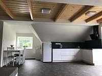Apartmán CH1 - podkroví - Obývací pokoj s kuchyňským koutem a jídelnou - pronájem Dubenec