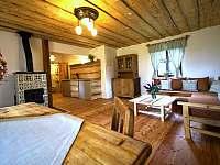 Obývací pokoj - chalupa ubytování Přídolí - Práčov