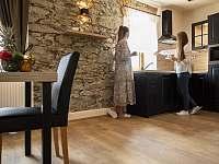 Apartmán 1 kuchyně - chalupa ubytování Klažary u Žumberka