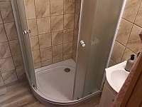 Sprchový kout - chata ubytování Jickovice