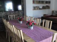 společenská místnost - chalupa ubytování Buk u Jindřichova Hradce