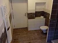 Koupelna v přízemí - pronájem chalupy Níkovice