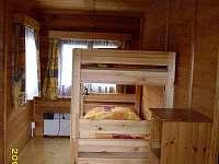 Menší ložnice s palandou