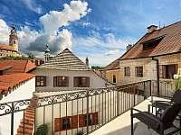 Balkón - Apartmán č. 5 - ubytování Český Krumlov