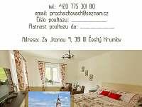 Dárkový poukaz - apartmán ubytování Český Krumlov - Domoradice