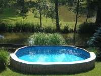 Bazén - pronájem chaty Soběslav