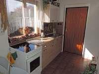 Kuchyňský kout - chata k pronajmutí Soběslav