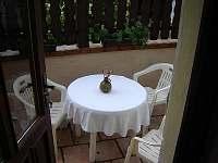 Ubytování s terasou U Maxe - apartmán k pronajmutí Lišov