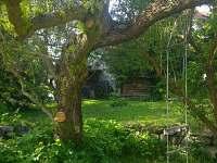 zahrada - pronájem chalupy Jistebnice