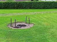 Venkovní ohniště - chalupa ubytování Turovec
