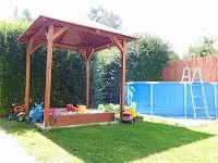 Dětské zastřešené pískoviště, bazén