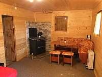 Obýcací pokoj s jídelním koutem - chata ubytování Lipno nad Vltavou - Kobylnice