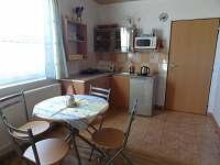 kuchyňka ve čtyřlůžkovém pokoji - ubytování Borkovice