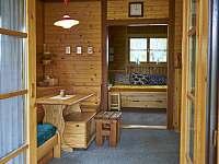 pohled z terasy do kuchyně - chata k pronajmutí Vodňany