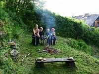 Lipno chata - ohniště nad chatou