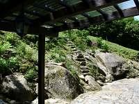 Lipno chata - pohled z pergoly