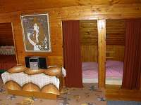Podkroví s ložnicemi - chata ubytování Červená nad Vltavou