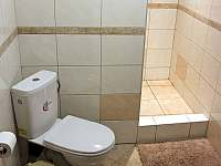 Koupelna záchod přízemí - chata k pronajmutí Frymburk - Lojzovy Paseky