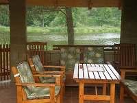 Výhled na řeku - chata ubytování Roudná