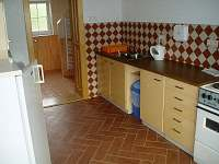 Kuchyně velký apartmán - pronájem chalupy Štítné