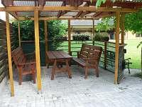 posezení u ohniště - rekreační dům k pronájmu Přední Zborovice
