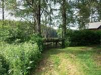 brána - vjezd - pronájem chaty Cetoraz u Pacova