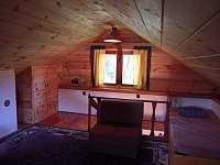 ložnice v podkroví - chata k pronájmu Cetoraz u Pacova