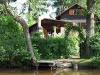 pohled z rybníka - chata k pronajmutí Cetoraz u Pacova