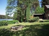 pohled ze zahrady - chata k pronájmu Cetoraz u Pacova