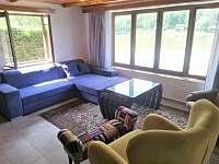 obývací pokoj - pronájem chaty Zliv