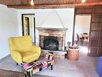 obývací pokoj - chata k pronajmutí Zliv