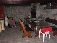 venkovní sezení a krb