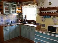 kuchyňský kout - chata ubytování Stráž nad Nežárkou