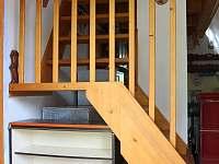 schody do patra - chata ubytování Stráž nad Nežárkou