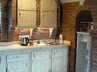 Kuchyňský kout - chata ubytování Milná