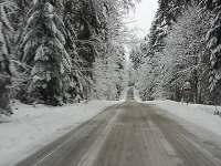 zasněžené cesty na Lipně - Kájov - Kladné
